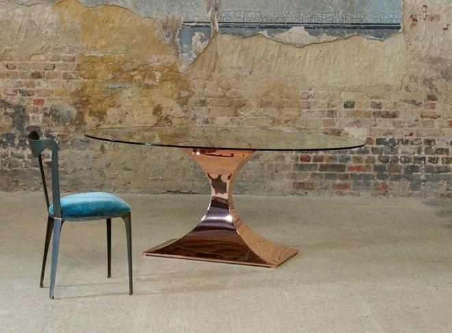 Tom Faulkner Capricorn Dining Table Now In Copper Inside Id