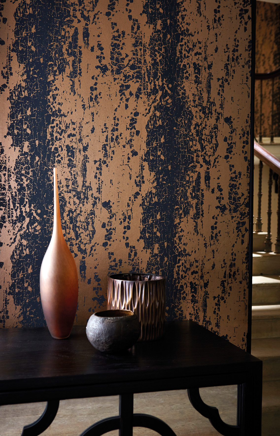 Harlequin Leonida Wallpapers Extol Distressed Opulence
